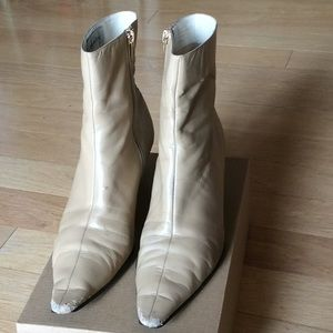 Anne Klein 2 camel point toe ankle booties